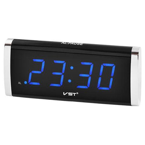 Годинник мережевий VST-730-5 синя підсвітка